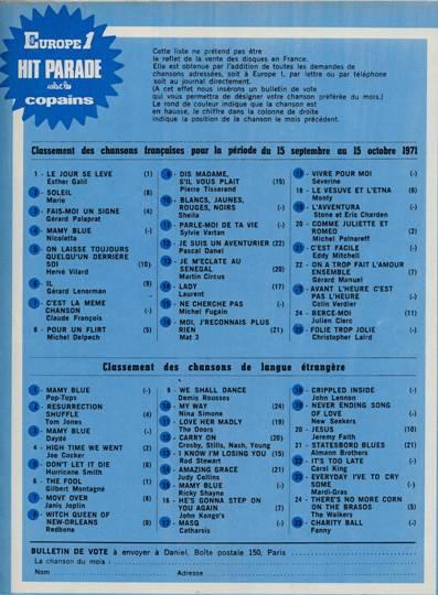 Hit parade 1971
