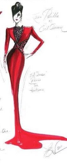 Once upon a time customes sketches by Eduardo Castro- Evil Queen: