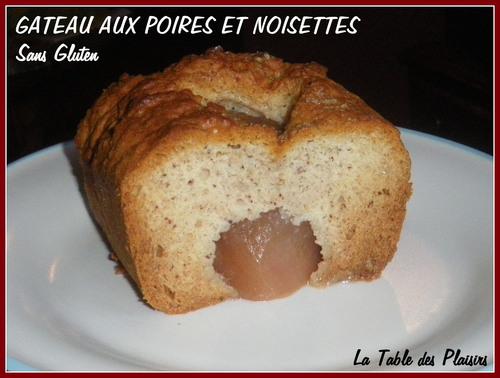 Gâteau aux Poires et Noisettes Sans Gluten