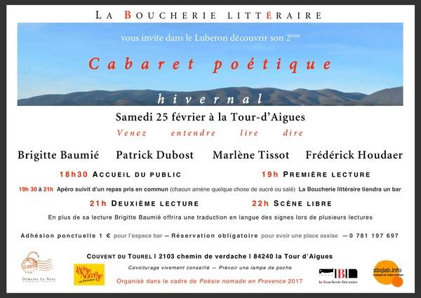 2ème Cabaret poétique hivernal : La soirée