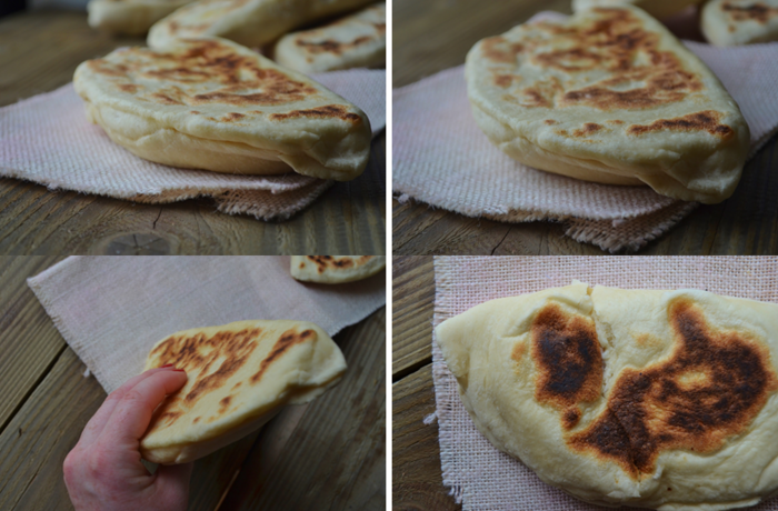 Cheese naan à la mozzarella