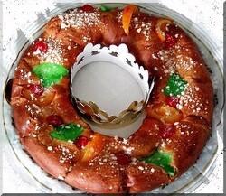Gâteau du Jour des Rois en Catalogne le Tortell de Reis