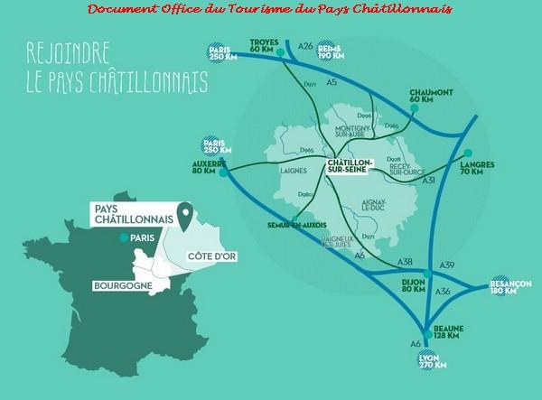 Où se trouve le Pays châtillonnais ?