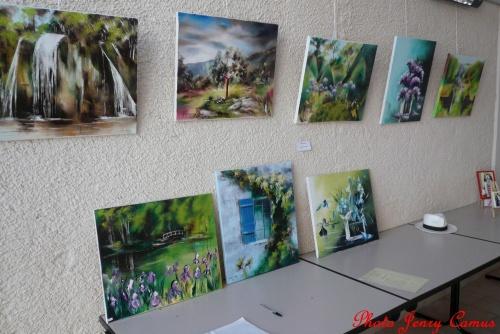 Les peintres à Moitron en 2012...