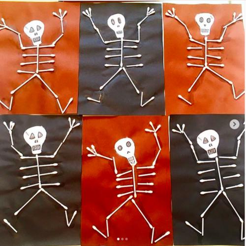 squelettes en coton tige