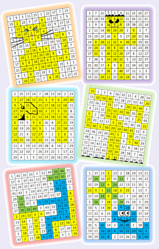 La multiplication par le jeu le stylo de vero for Multiplication table jeux