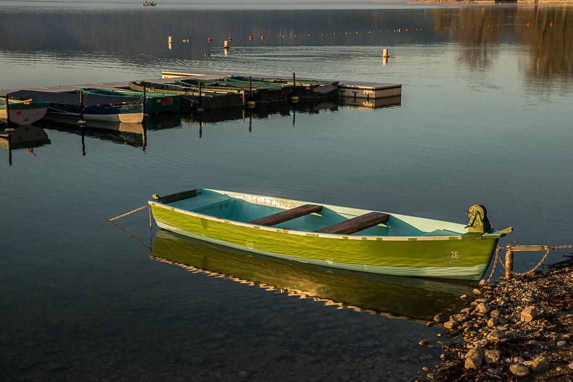 Paladru - Après  le  lever du soleil