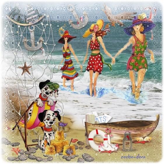 cluster vacances à la mer , comme j'y suis allez un petit gif !