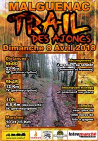 Trail des Ajoncs - Malguénac - Dimanche 8 avril 2018