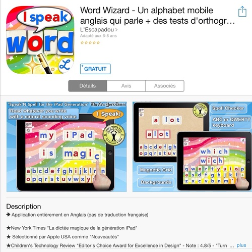[appli gratuite] Word Wizard