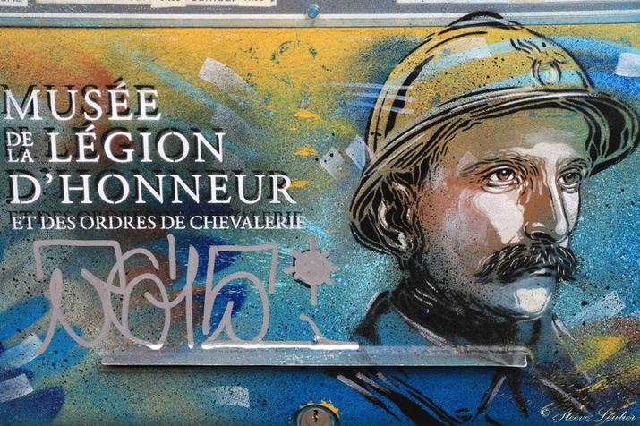 Street Art C215 à Paris, Musée de la légion d'honneur