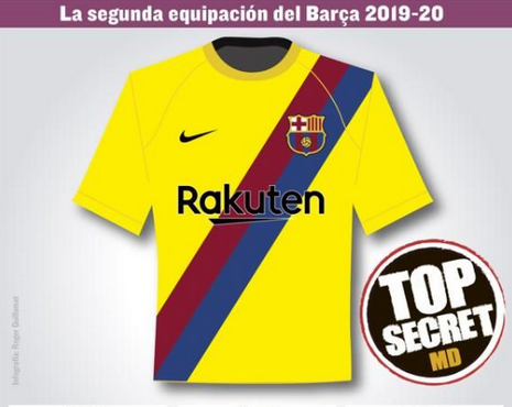 Maillot de foot Barcelone 2019 2020 Exterieur Previsions