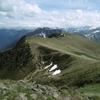 Du sommet du pic d\'Arrès, la crête frontière vers le Sud