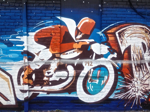Street-art motocycliste (ou presque)