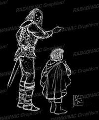 Faramir et Frodon à Henneth Annûn
