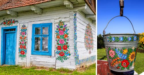 Zalipie-maisons peintes Pologne