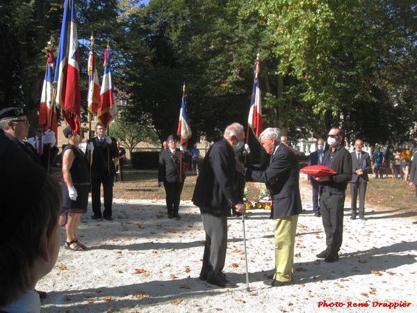 René Drappier a assisté aux cérémonies de commémoration de la Libération à Châtillon sur Seine