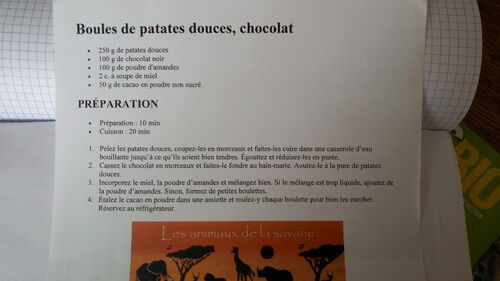 RECETTES PATATE DOUCE
