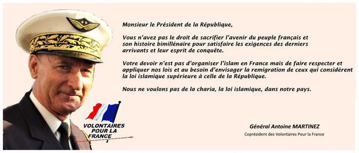 Général MARTINEZ - Lettre ouverte au Président de la République