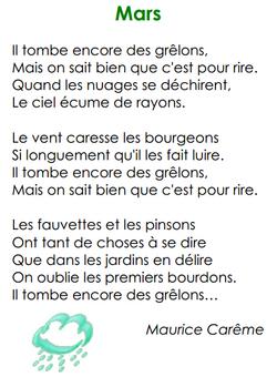 Mars, de Maurice Carême