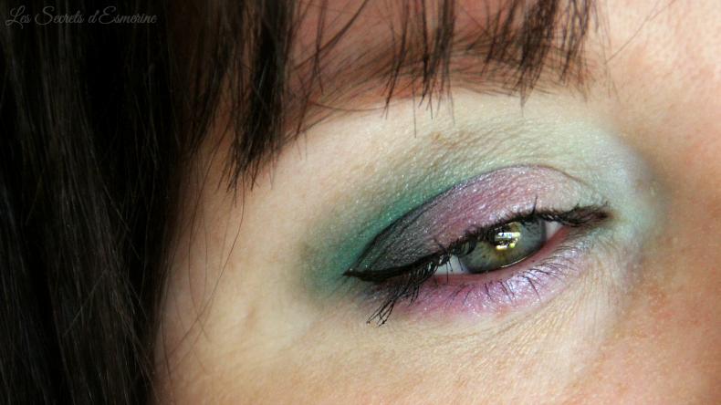 makeup vert + mauve