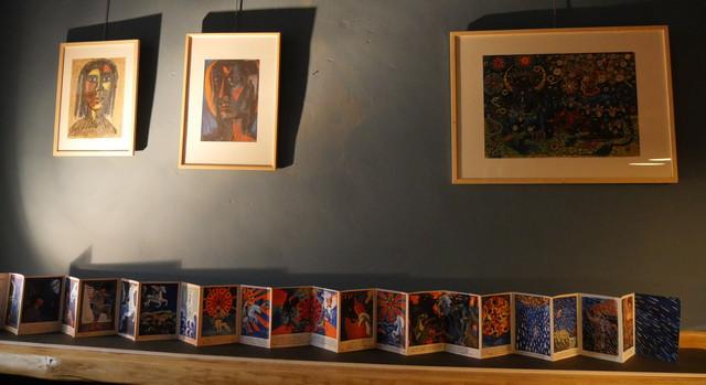 """Les dessins de Grisélidis Réal, et le livre de contes """" Le cheval nuage"""", exposés à la Maison Ripert, Avignon"""