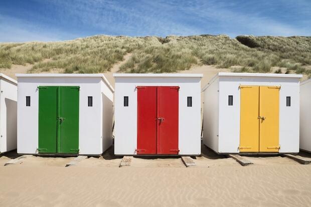 La plage de Woolacombe sur la côte nord du Devon
