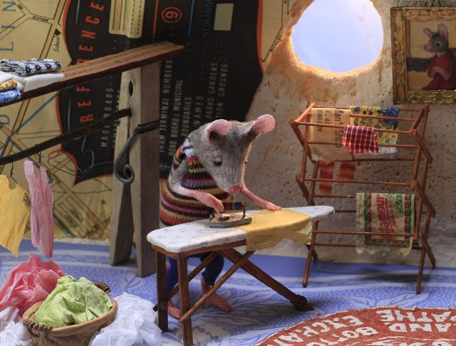 Ironing • MousesHouses   Felt mouse, Cute mouse, Bunny drawing