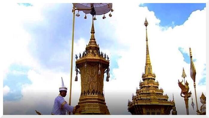 Thaïlande. Cérémonie de la crémation.
