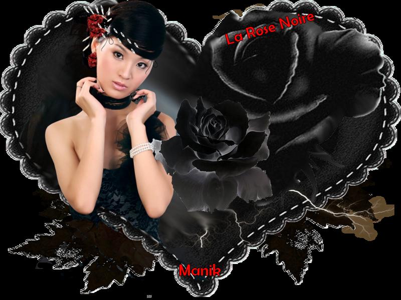 Un autre défi pour mon amie Marjolaine ( La Rose noire )