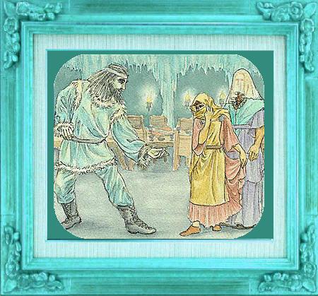 Thrymskvida : Thor et Loki déguisés arrivent chez Thrym