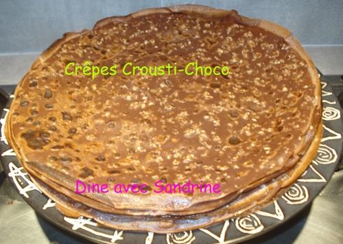 Des Crêpes Crousti-Choco