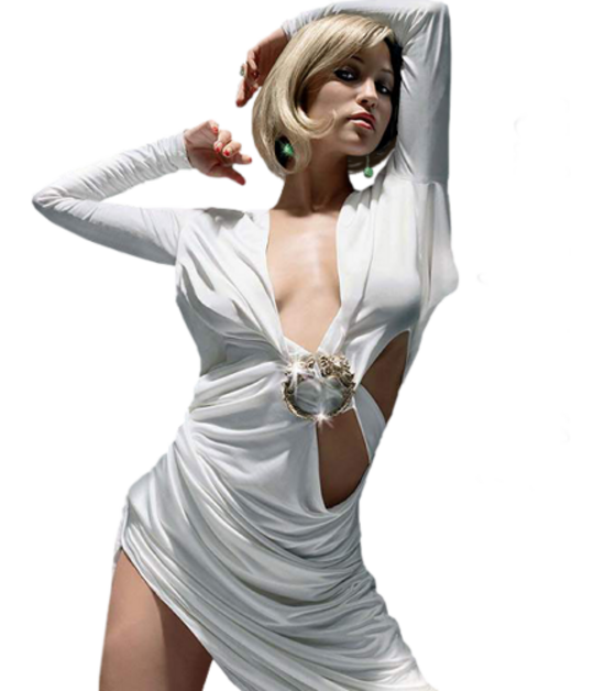 Femme vétue de blanc