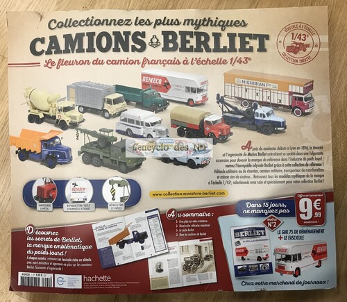 N° 1 collection camions Berliet - Lancement