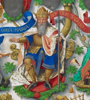 Sancho III de Navarre dans l'Arbre Généalogique des rois de Portugal.