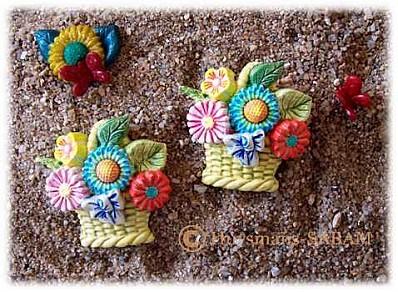 miniature panier d'été en plâtre - Arts et sculpture: sculpteur mouleur