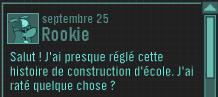 Message de Rookie