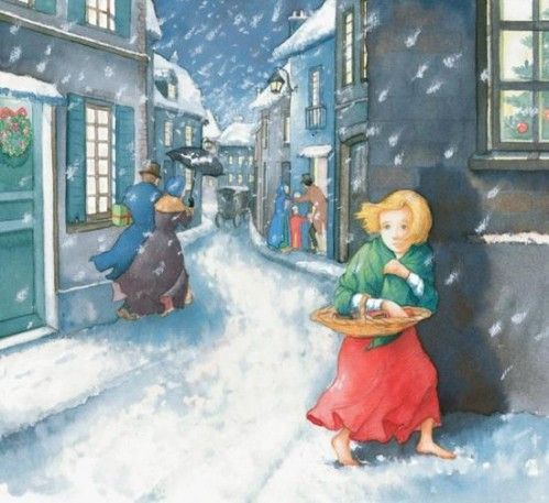 Avent : conte danois - la petite fille aux allumettes   La petite fille aux  allumettes, Petite fille, Conte