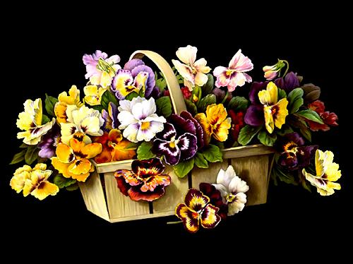 Virágkosarak