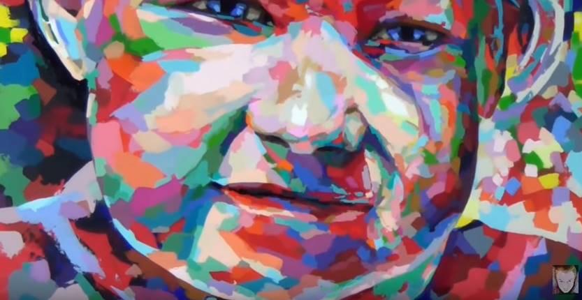Dessin Et Peinture Vidéo 2326 Le Portrait Coloré Peinture