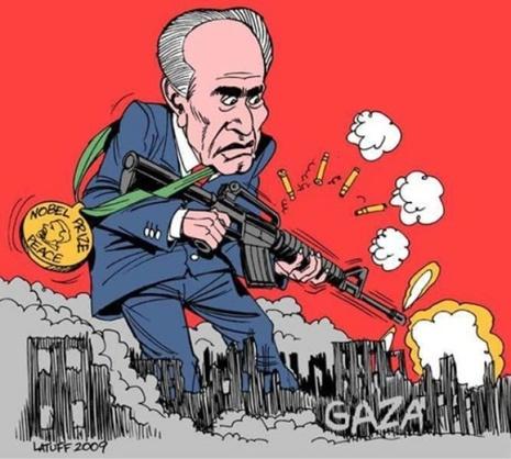 Shimon Pérez (Caricature du dessinateur brésilien Latuff)