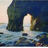 coucher de soleil sur l'arche de port blanc morbihan