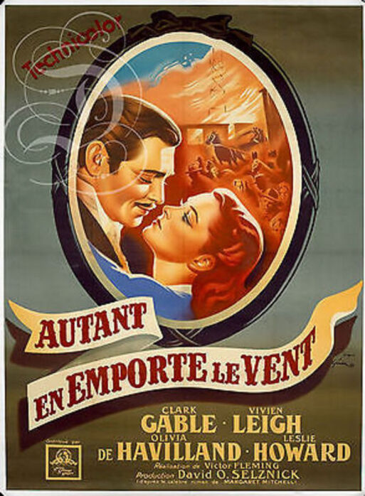 AUTANT EN EMPORTE LE VENT - BOX OFFICE PARIS 1950