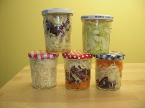Salade en pots