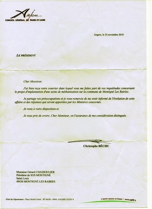 Lettres aux Ministres....