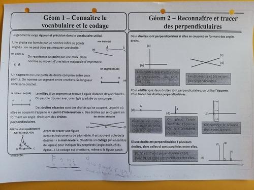 Géométrie - leçons