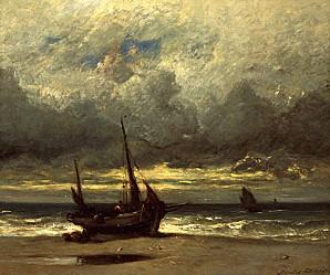 fishing boat in stormy seas dupre96