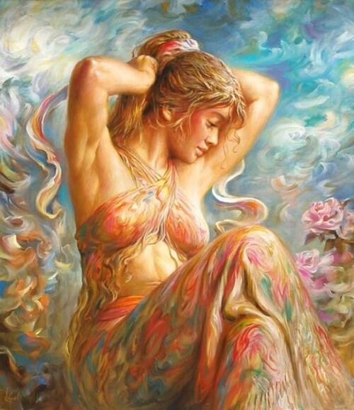 Peinture de femme