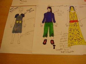 Les costumes d'Alyan, de Stéphane et de Mamie Loupiotte