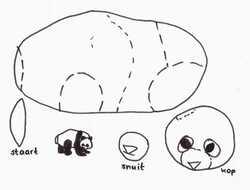 Le panda en assemblage de formes